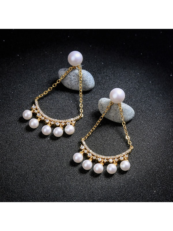Diamante Overgild Korean Party Earrings