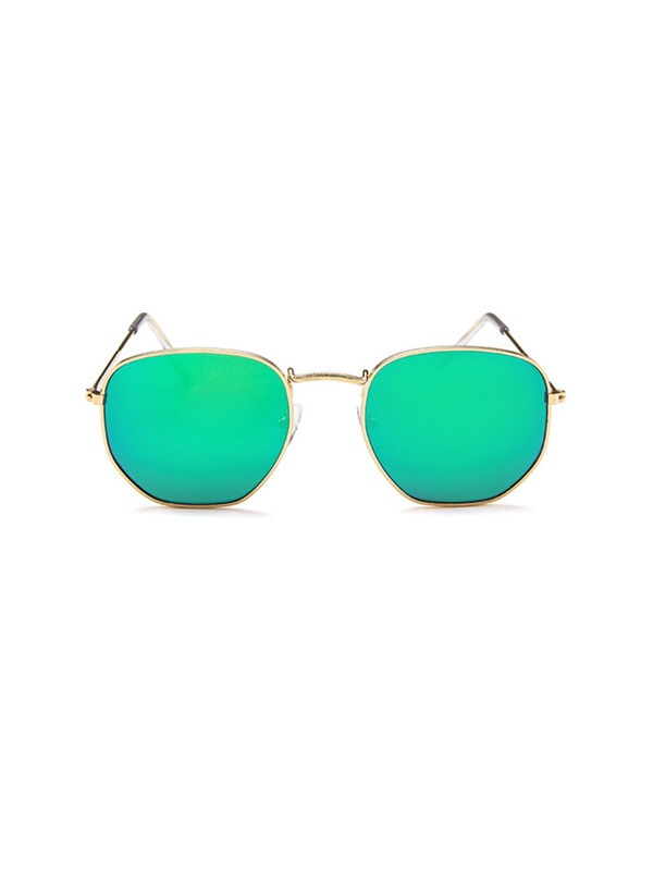 Colored Lens Wrap Resin Vintage Sunglasses