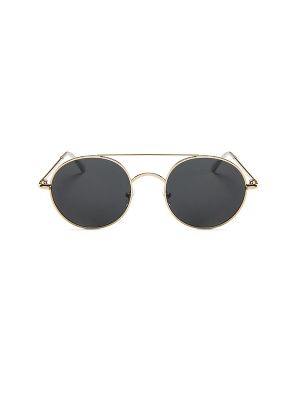 Round Metal Frame Vintage Anti-UV Sunglasses