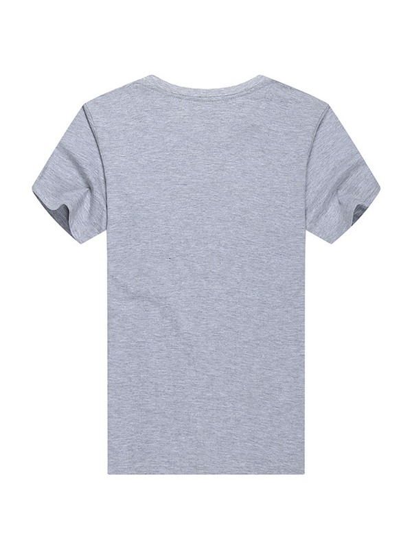 Letter Print Casual Round Neck Men's T-shirt
