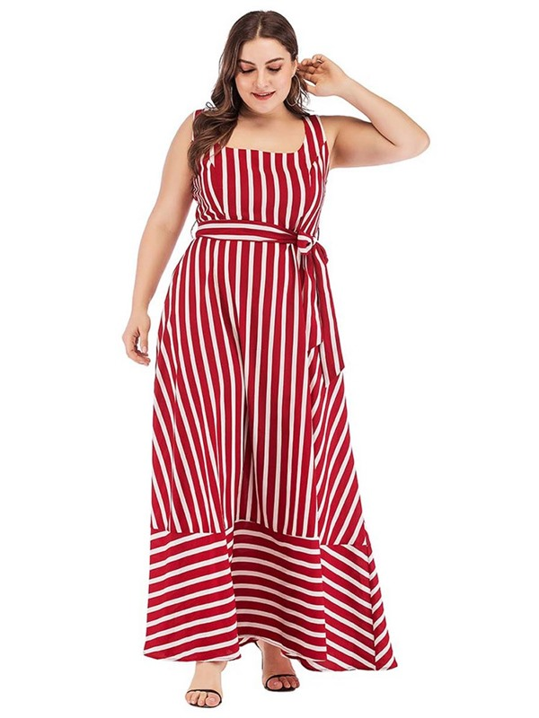 Ankle-Length Sleeveless A-Line Pullover Women's Maxi Dress