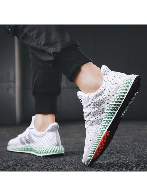 Flat Mesh Breathable Men's Running Shoes