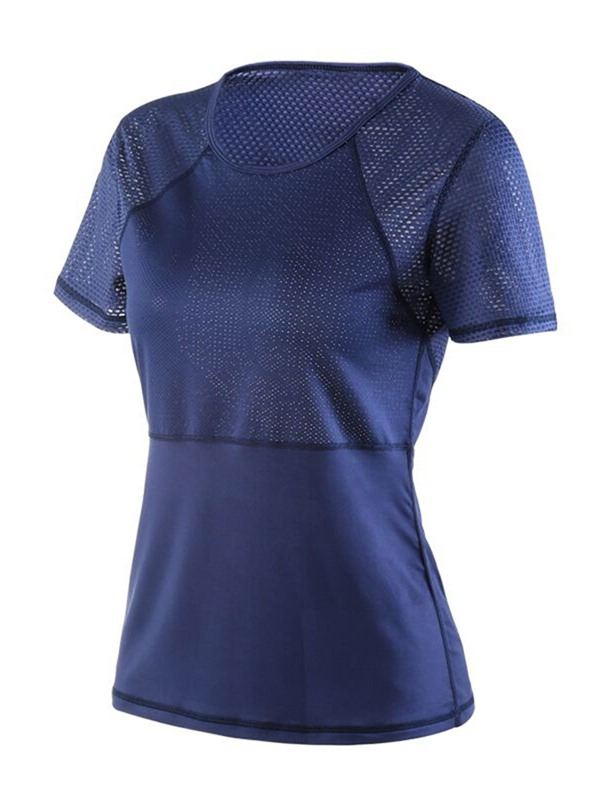 Quick Dry Short Sleeve Pullover Women's Active Tops