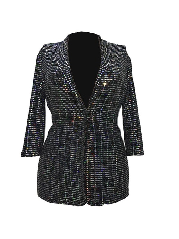 Long Sleeve Fall Sequins Women's Casual Blazer