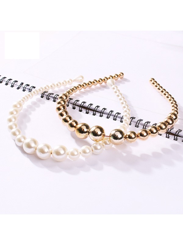 Plain Hairband Korean Beads Hair Accessories