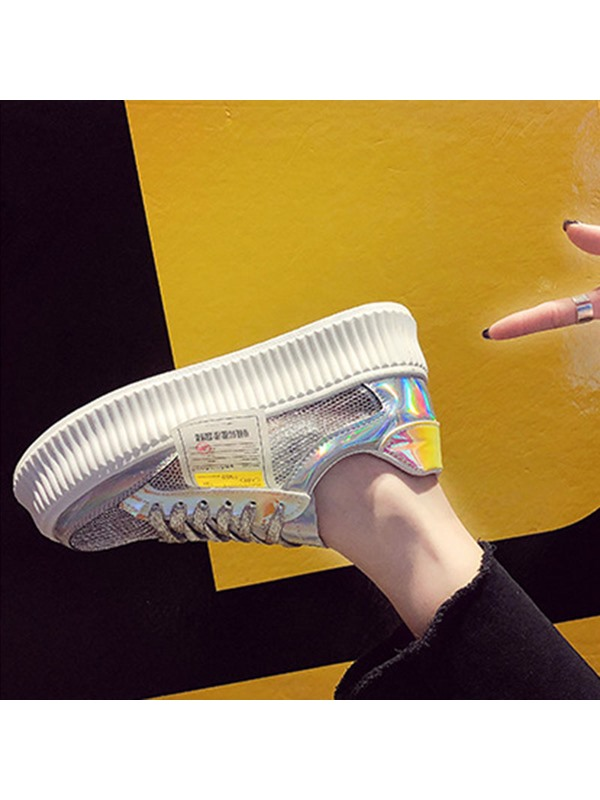 Lace-Up Low-Cut Upper Platform Casual Women's Sneakers