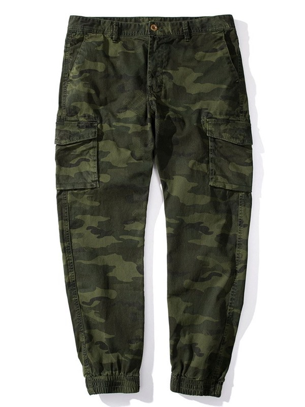 Camouflage Pocket Men's Casual Pants