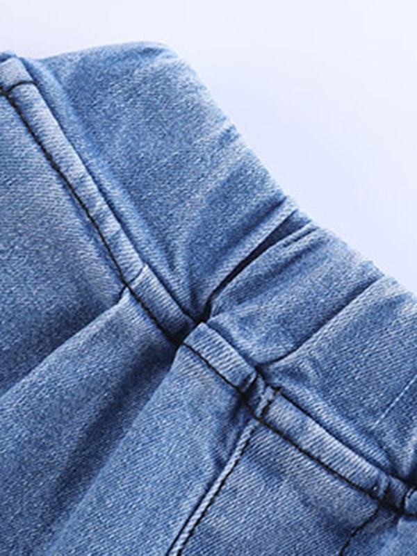 Washable Loose Mid-Calf Boys' Jeans