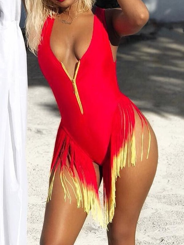Tassel Sexy One Piece Swimwear