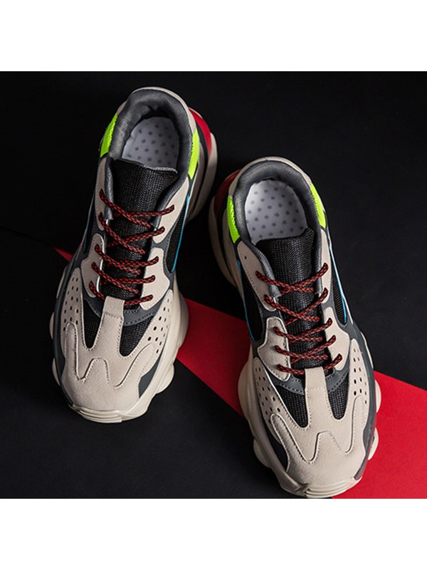 Lace-Up Mesh Chic Men's Chunky Sneakers