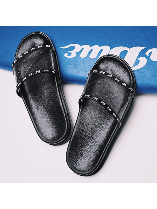 PVC Print Chic Men's Slippers