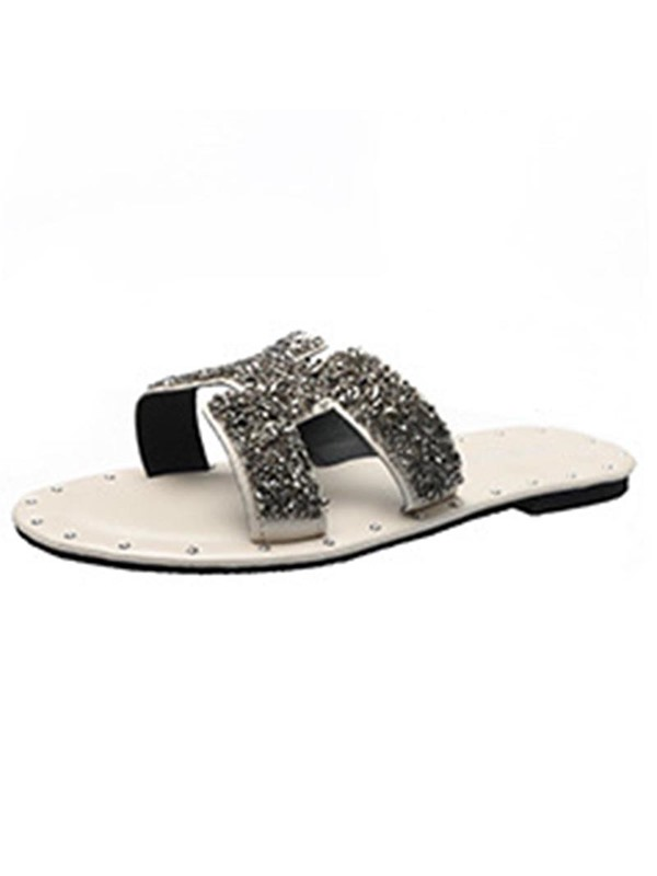 Slip-On Block Heel Chic Women's Flat Sandals