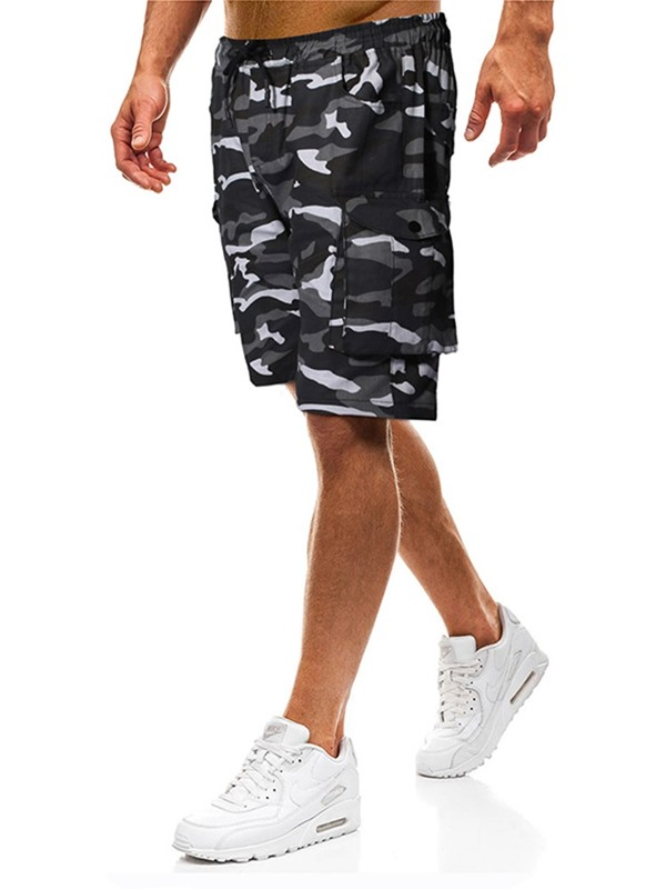 Thin Pocket Camouflage Straight Men's Casual Shorts