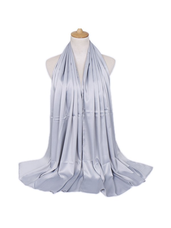 Lady Solid Color Wrap Chiffon Summer Scarf
