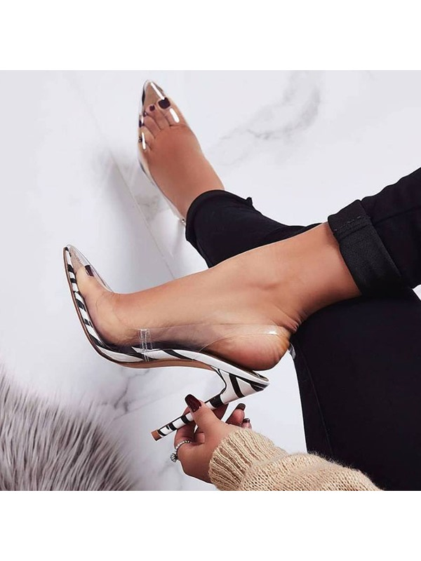 Buckle Pointed Toe Slingback Strap Western Sandals