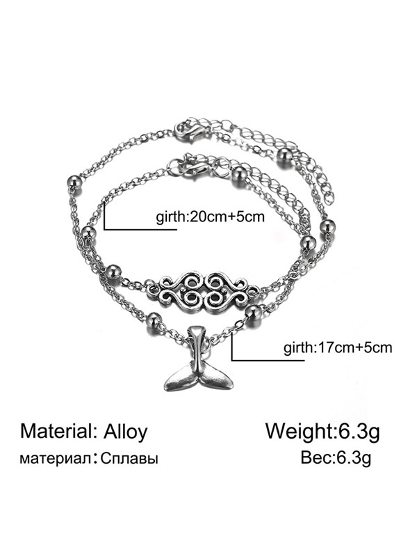 Women Simple Fishtail Barefoot Sandals Anklets