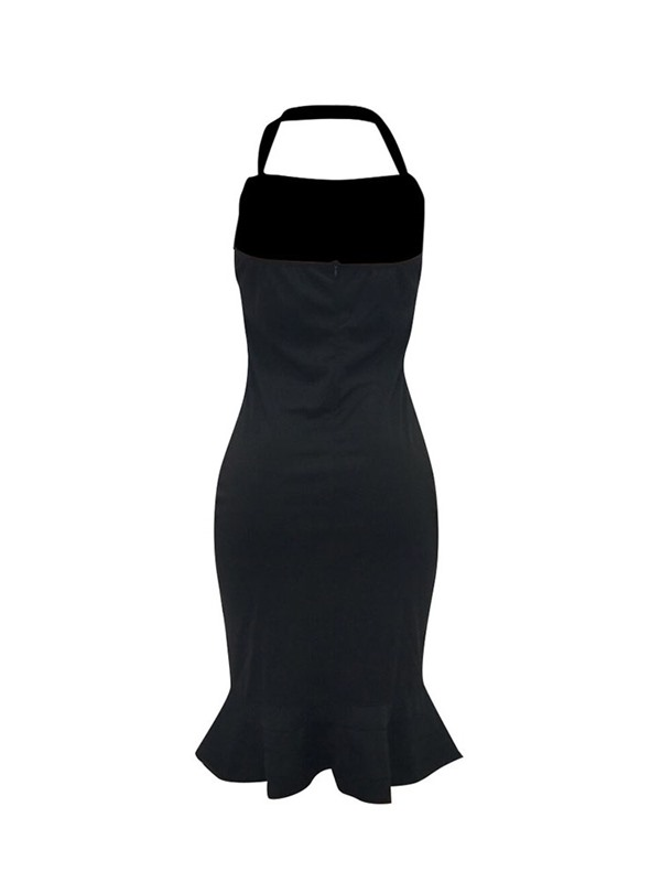 Mid-Calf Backless Sleeveless Pullover Women's Bodycon Dress