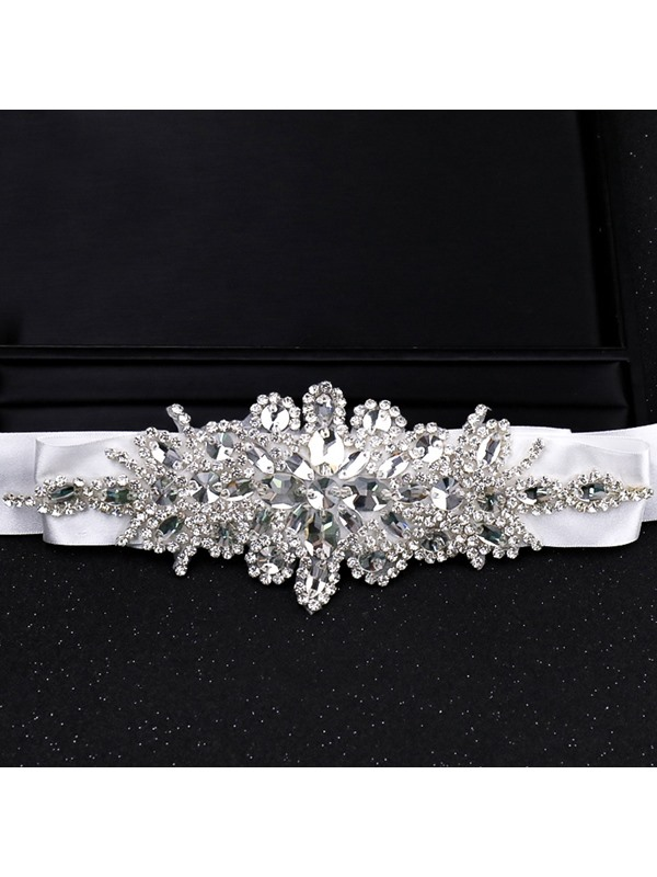 Fabric Regular(2-4cm) Rhinestone Bridal Belts 2019