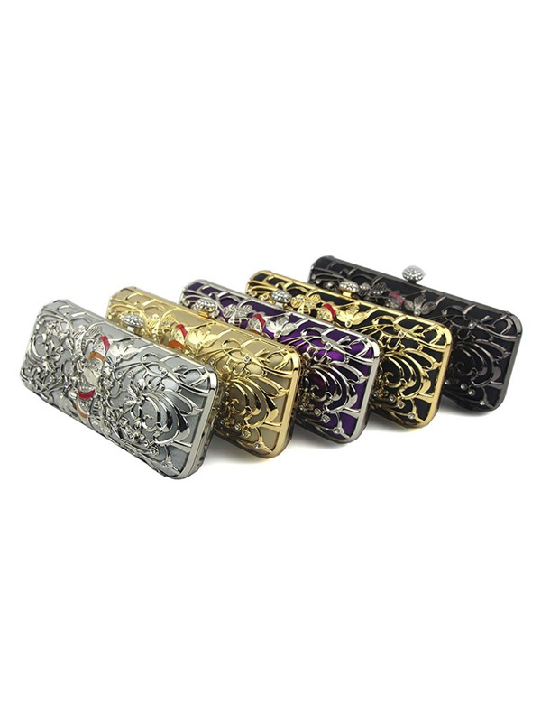 Banquet Rhinestone Rectangle Clutches & Evening Bags