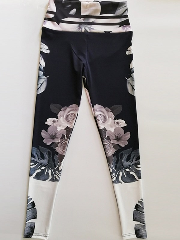 Floral Print Breathable Gym Sports Fitness Yoga Pants
