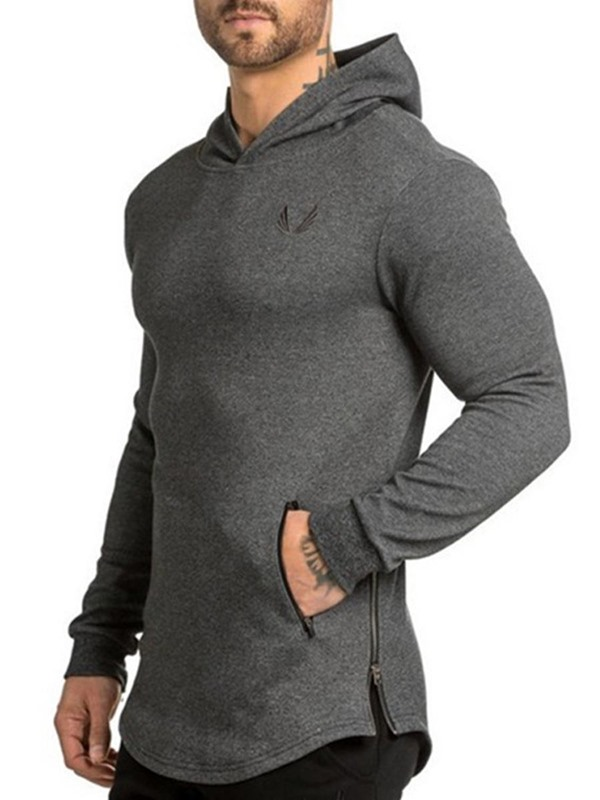 Men Camouflage Print Hooded Pullover Sports Tops