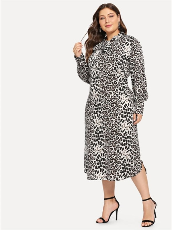 Long Sleeve Mid-Calf Pullover Women's Dress