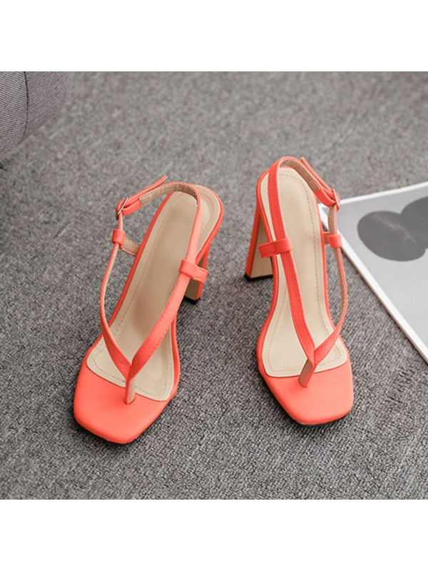 Neon Thong Slingback Strap Buckle Sexy Sandals