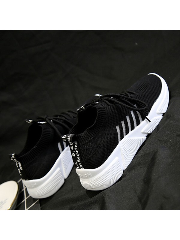 Lace-Up Plain Women's Running Shoes