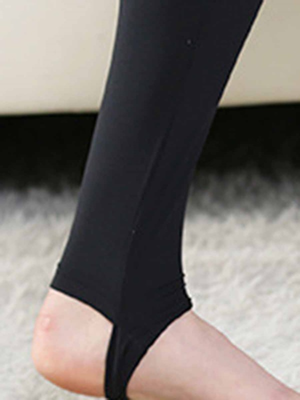 Women's Plus Size Pants Solid Polyester Yoga Full Length Tights