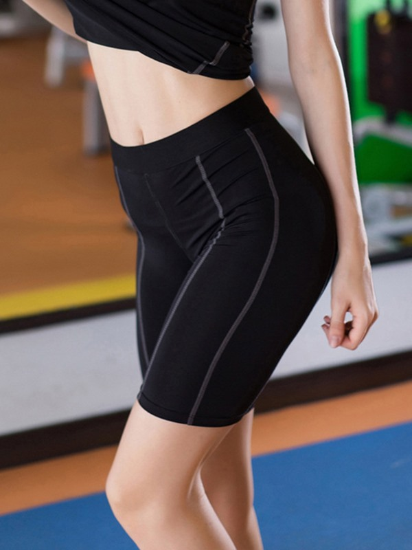 Seamless Joint Polyester Solid Quick Dry Summer Female Pants