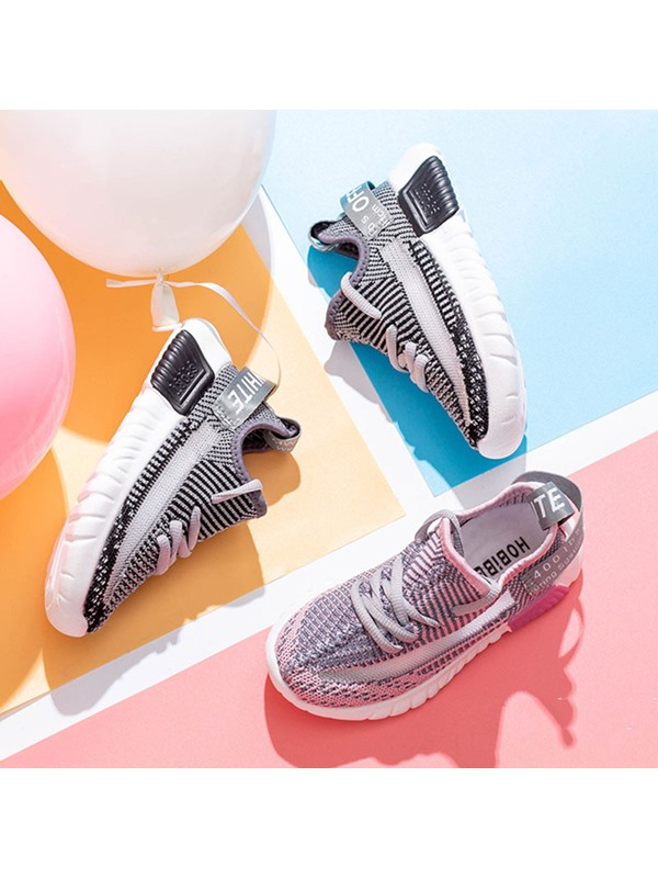 Round Toe Casual Lace-Up Kid's Sneakers