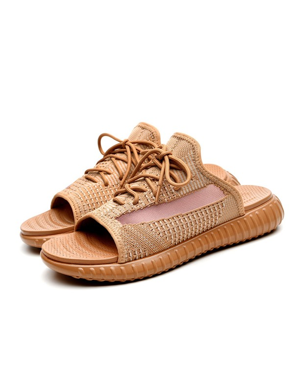 Simple Summer Lace-Up Men's Slippers