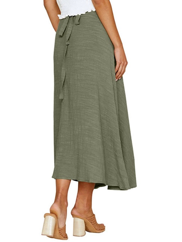Ankle-Length A-Line Button Women's Skirt