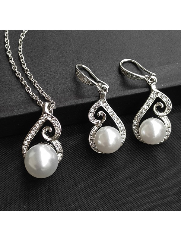 Korean E-Plating Necklace Jewelry Sets (Wedding)