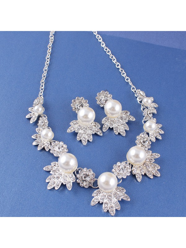Necklace E-Plating Floral Jewelry Sets (Wedding)