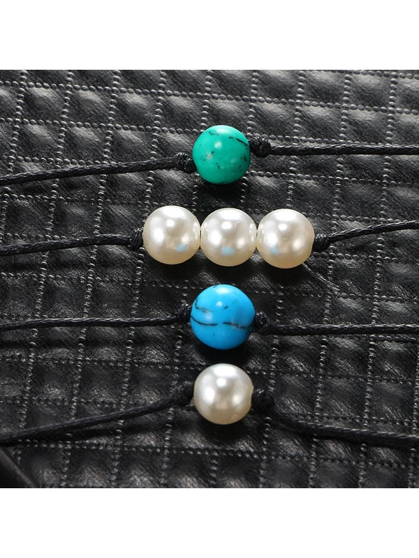 Sweet Woven Beads Female Anklet