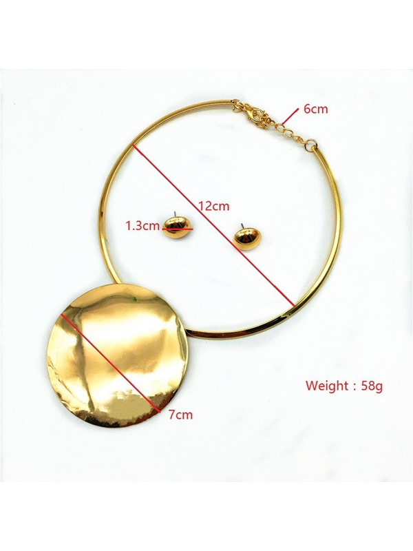 Alloy Golden Jewelry Set