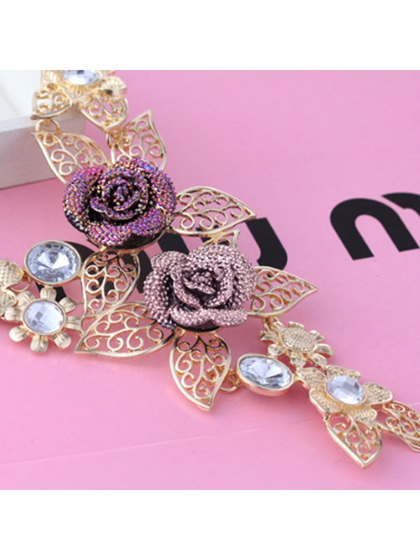 Hollow Out Floral Vintage Jewelry Set