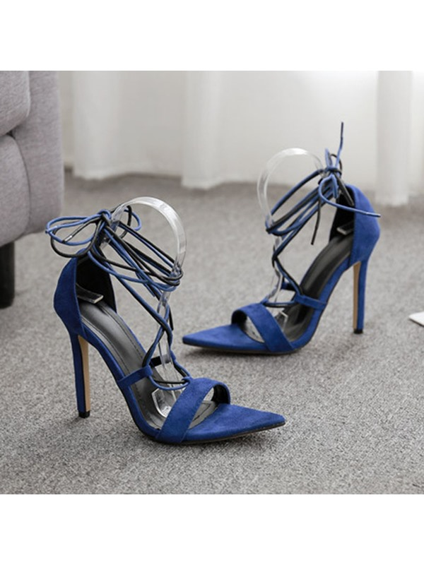 Stiletto Heel Lace-Up Heel Covering Sexy Sandals