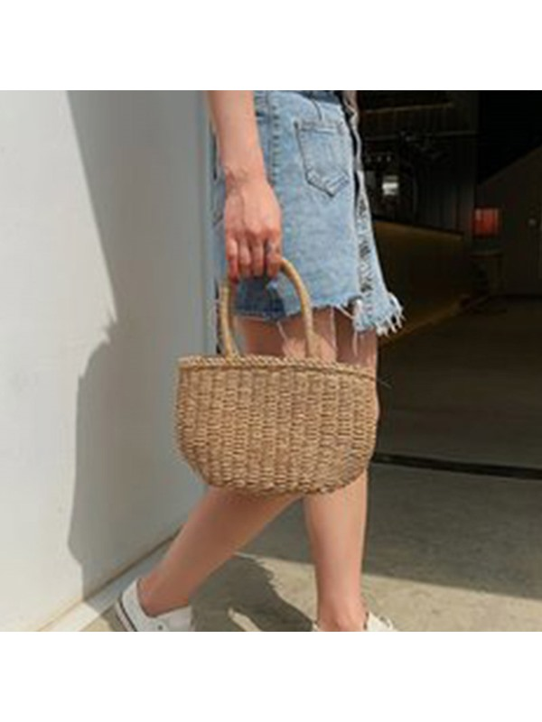 Plain Grass Knitted Tote Bag