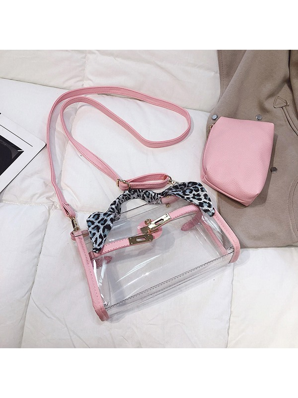 Thread PVC Rectangle Tote Bag
