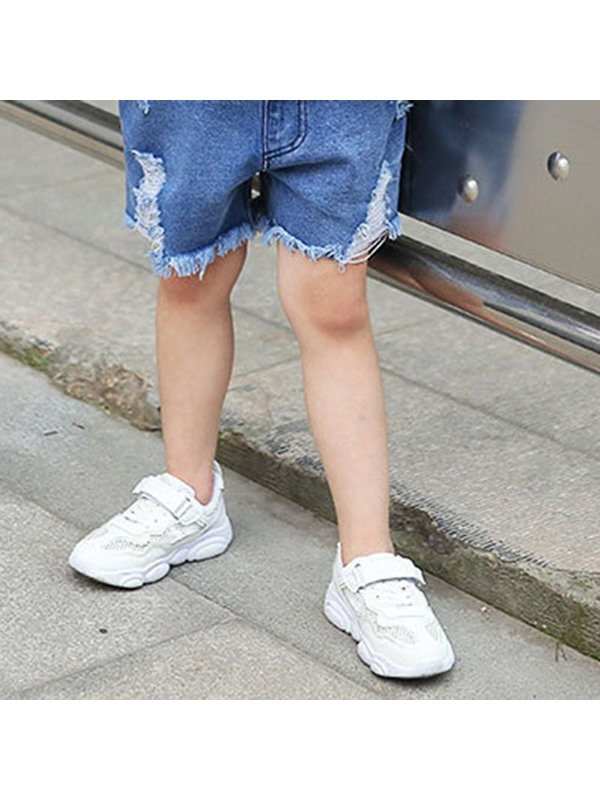 Casual Hollow Color Block Kid's Sneakers