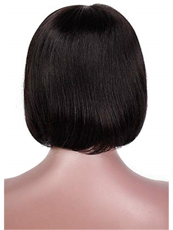 Short Bob Style Women's Natural Straight Synthetic Hair Wigs Lace Front Cap Wigs 14inch