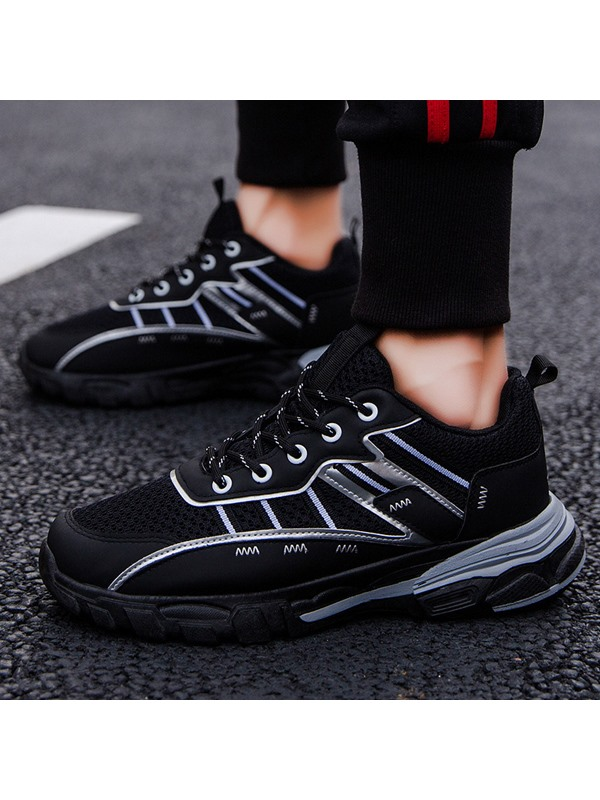 Lace-Up Sports Mesh Men's Chunky Sneakers