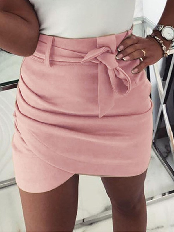 Bowknot Mini Skirt A-Line Women's Skirt