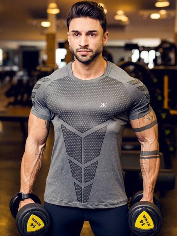 Anti-Sweat Short Sleeve Men's Sports Tops