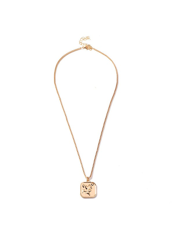 E-Plating Simple Pendant Necklace Unisex Necklaces