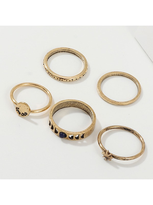 E-Plating European Alloy Wedding Ring Set