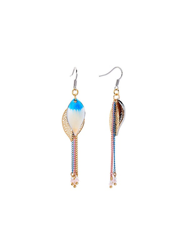 Sweet Tassel Color Block Earrings