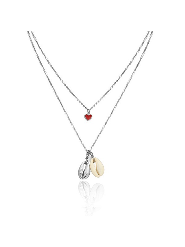 Long Pendant Heart-Shaped Female Necklaces